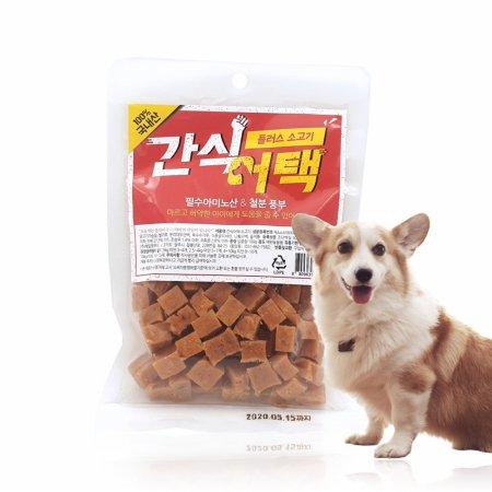 강아지간식 애견간식 간식어택 소고기맛 100g*10개