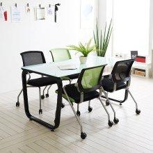 스틸뷰 1500테이블 노트북 회의실 4인용테이블 사무용