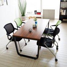 스틸뷰 1200테이블세트 4인용 철제테이블 책상 회의실