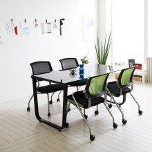 스틸뷰 1500테이블 책상 테이블 사무용 회의실 4인용