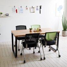 스틸뷰 1200테이블 책상 회의실 다용도테이블 사무용