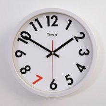 포인트 엣지 저소음 벽시계 (화이트) 시계