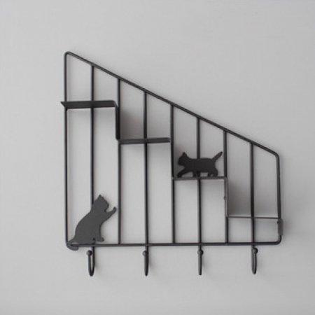 고양이 미니 선반(블랙) 선반 수납공간 추카추카넷