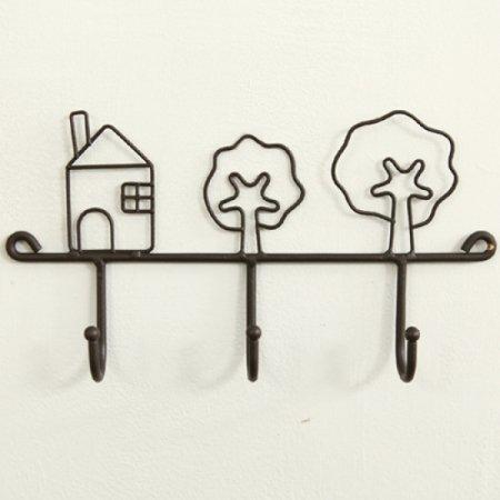 빈티지 하우스 훅 선반 (블랙) 수납공간 추카추카넷
