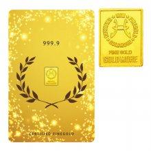 순금 골드바 카드 1.0g 99.99% [ 월계관 ]