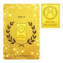 순금 골드바 카드 5.0g 99.99% [ 월계관 ]