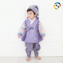 예화 명절 한복 남아 아동한복 색동퍼플