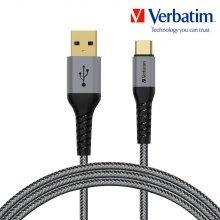 버바팀 케이블 케블라 USB A to C 120cm 그레이