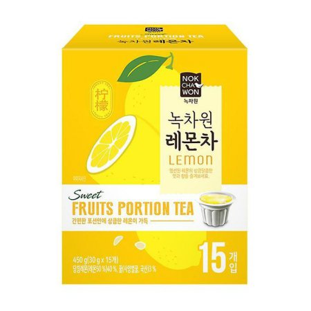[녹차원] 레몬차 포션 15개입