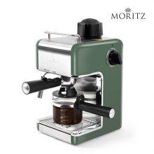 모리츠 에스프레소 커피머신 그린 MO-EM1000G [ 가정용 최대 4컵 추출 가능 / 간편 다이얼 방식 / 스팀기능 ]