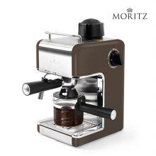 모리츠 에스프레소 커피머신 브라운 MO-EM2000B  [ 가정용 최대 4컵 추출 가능 / 간편 다이얼 방식 / 스팀기능 ]