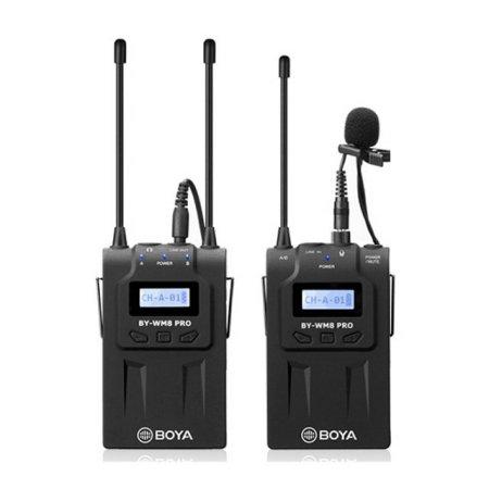 Pro-K1 UHF 듀얼채널 무선마이크 [BY-WM8]