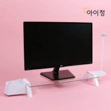 스마트독브릿지 모니터받침대 S300 투명유리/화이트