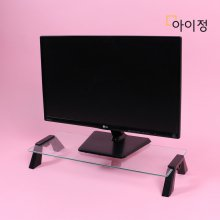 스마트독컴팩트 모니터받침대 C645 투명유리/블랙