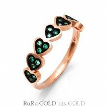 14K 러블리 에린하트 반지 R09-24