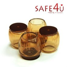 (SAFE4U) 먼지가 붙지않는 불소수지 의자발캡 원형(25mm)_07E073