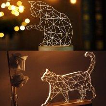 LED 3D 캣 무드등(걷는고양이)
