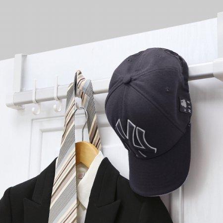 공간활용 모자 가방 옷걸이 무타공 DUAL후크 도어행거