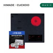 빌트인 하이브리드 3구 CIHR-DL306HFB (인덕션2구+하이라이트1구, 와이드 플렉스존, 명품 세라믹 글라스)