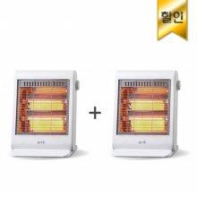 사무실히터, 풋히터 같이 1+1 패키지 EH-Q8061WH [2단계 온도조절 / 전도 안전장치]