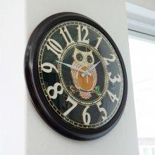 데일리데코 사벨 부엉이 벽시계