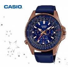 MTP-SW320RL-2A 남성 패션 가죽 손목 시계