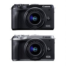 EOS-M6 MarkⅡ 미러리스 카메라  렌즈KIT[실버][본체+15-45mm][16GB메모리+가방 증정]