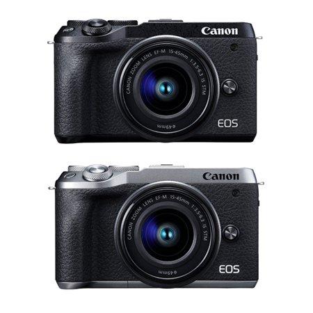 EOS-M6 MarkⅡ 미러리스 카메라  렌즈KIT[색상 2종][본체+15-45mm][16GB메모리+가방 증정]