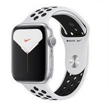 애플워치5 GPS 44mm [실버 알루미늄 케이스, 퓨어 플래티넘 / 블랙 Nike 스포츠 밴드] MX3V2KH/A