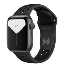 애플워치5 GPS+셀룰러 44mm [스페이스 그레이 알루미늄 케이스, 안트라사이트 / 블랙 Nike 스포츠 밴드] MX3F2KH/A