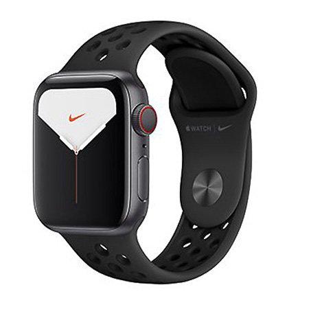 애플워치5 GPS+셀룰러 40mm [스페이스 그레이 알루미늄 케이스, 안트라사이트 / 블랙 Nike 스포츠 밴드] MX3D2KH/A