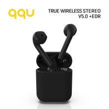 QQU 매트블랙 코드리스 이어폰