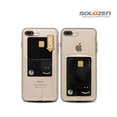 [솔로젠]카드 포켓 투명 케이스 아이폰 11 Pro