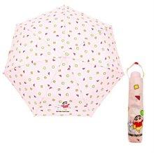 캐릭터 3단 수동 우산 핑크 휴대용 3단 우산 미니우산_49A44A