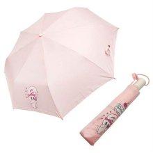 캐릭터 하트뿅뿅 완전 자동 우산 핑크 휴대용 우산_49A472