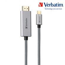 버바팀 메탈릭 USB 3.1 타입C to HDMI 케이블 200cm