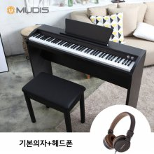 [6/9부터 순차배송][뮤디스]전자 디지털피아노 MU-8H + 기본의자 + 헤드폰