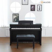 [화이트 8/18, 블랙 8/20 순차배송][뮤디스]전자 디지털피아노  MLP-600 + 2인용의자 목재해머건반