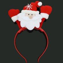 크리스마스 파티 페스티벌 반짝 LED 산타 머리띠_4CCC17