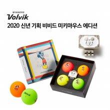 [볼빅] 2020 신년기획세트 미키마우스 4구 골프공 볼마커세트