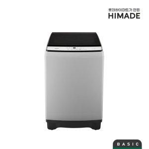 [하이메이드] HHP-16ECS 하이메이드 일반세탁기 [16KG/슬라이드 강화유리 도어/8단계 프로그램/24시간예약/차일드락 기능/강화유리커버/3단분리세제통/라이트그레이 ]