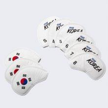대한민국 골프 국가대표 공식 아이언 커버 세트 화이트