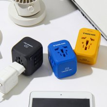 [Travel Mate] 잭큐브 플러스 멀티아답터 USB 4포트 3종 택 1