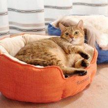 네코세카이 라운드베드 - 스칼렛레드 고양이방석_4C119C