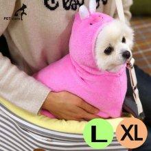 패리스독 캐릭터 웜 가운 담요 래빗 (핑크) (L-XL)_4FA404