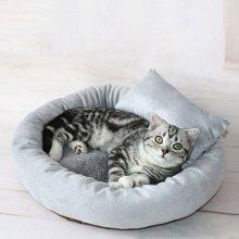 강아지 방석 고양이 집 숨숨 에그 타르트 방석 L_4F855F
