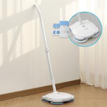 세비즈 60W 파워모터 원터치 물분사 LED 트리플 고주파 회전 무선 물걸레청소기 MOP1