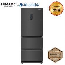[신모델 출시기념 한정수량 LPOINT 3만점] 하이메이드 X 위니아대우 스탠드형 김치냉장고 HDKRQ38DGCS (326L) / 3도어