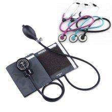 스피릿 메타혈압계 Ck-110+가베간호사청진기 단면 (핑크)