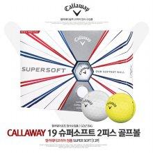 캘러웨이 슈퍼소프트19 컬러 2피스 골프공(1다즌 12알)